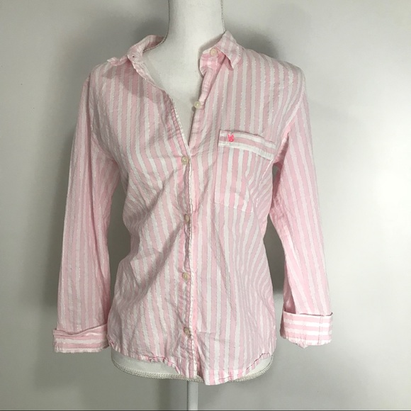 5b0ff63f7e28 Victoria's Secret Intimates & Sleepwear | White Pink Striped Classic ...